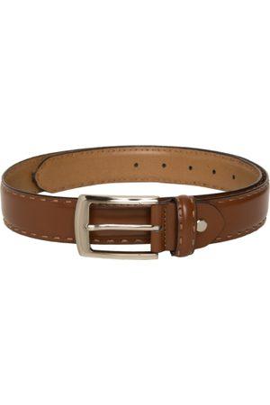 Mast & Harbour Men Tan Brown Solid Leather Belt