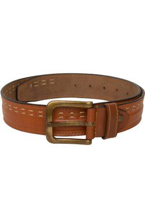 ED HARDY Men Solid Leather Belt