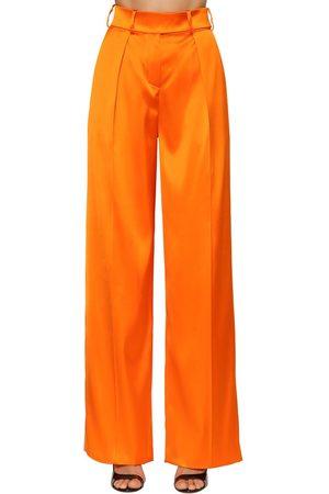 ALEXANDRE VAUTHIER High Waist Stretch Satin Pants