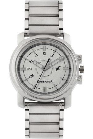 Fastrack Men Silver-Toned Dial Watch NE3039SM01