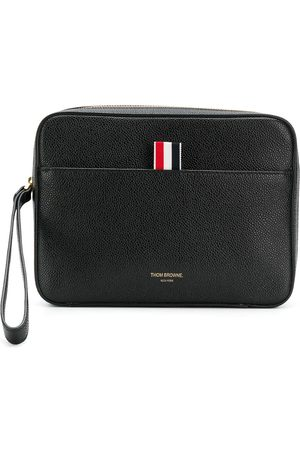 Thom Browne Textured zip pouch