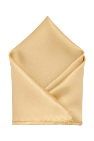 Blacksmith Men Gold-Coloured Satin Pocket Square