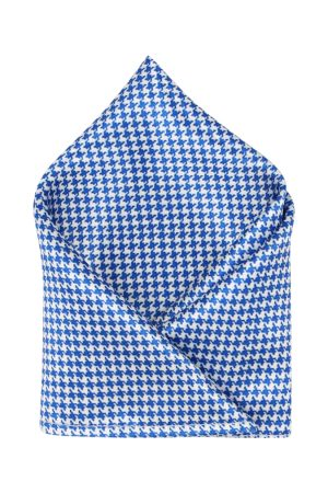 Blacksmith Men Blue Printed Pocket Square