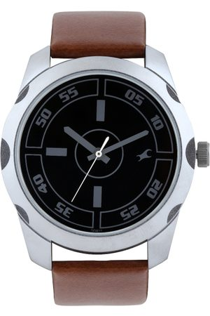 Fastrack Men Black Dial Watch 3123SL03