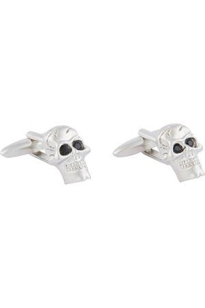 shaze Silver-Toned Contemporary Cufflinks