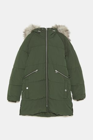 Zara QUILTED PARKA WITH HOOD