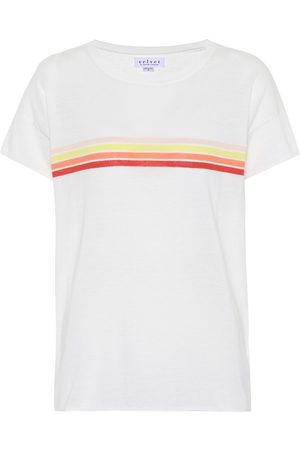 Velvet Lex striped cotton T-shirt