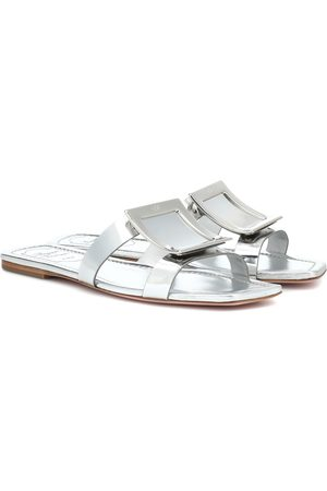 Roger Vivier Biki Viv' metallic leather slides