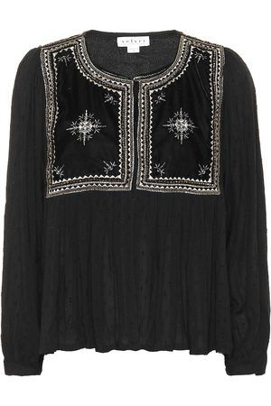 Velvet Nixi embroidered top