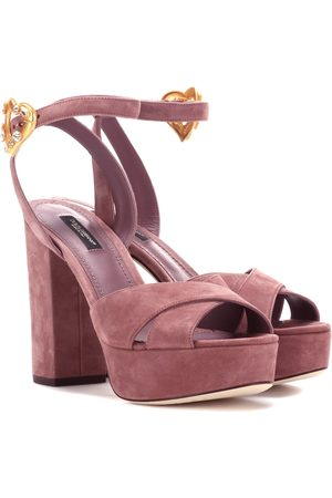 Dolce & Gabbana Exclusive to Mytheresa – Suede plateau sandals
