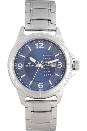 Titan Purple Metals Men Navy Blue Analogue watch NL1701SM01