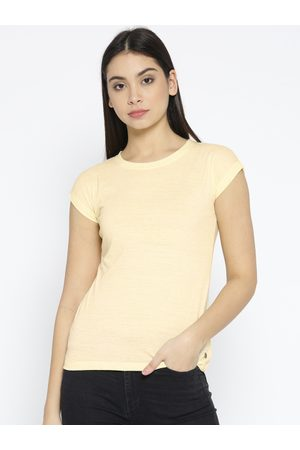 Pepe Jeans Women Solid Round Neck T-shirt
