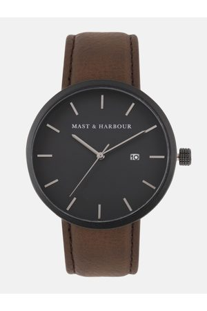 Mast & Harbour Men Black Analogue Watch MH3-A