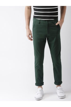Highlander Men Slim Fit Solid Regular Trousers