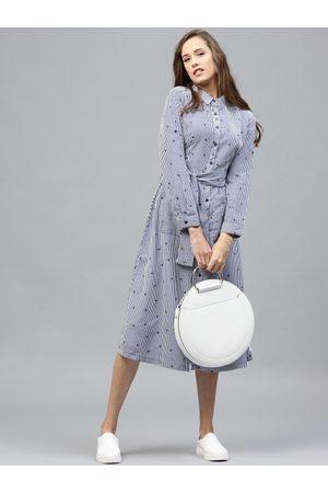 Tokyo Talkies Women Striped Shirt Dress