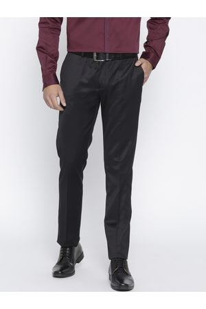 Blackberrys Men Sharp Fit Solid Formal Trousers