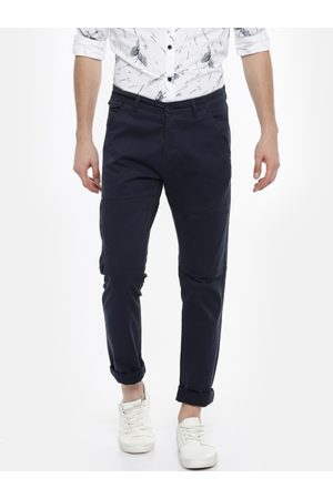 SPYKAR Men Slim Fit Solid Trousers