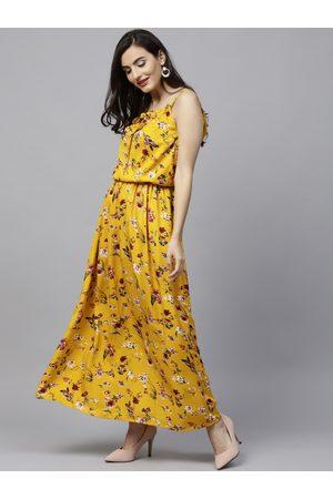 0553685765 Aasi Women Yellow Printed Maxi Dress