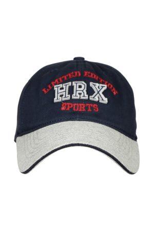 HRX Men Navy Blue & Grey Brand Logo Lifestyle Cap