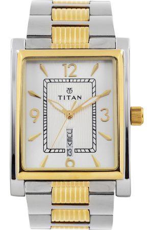 Titan Men Watches - Men Silver-Toned Dial Watch 90024BM03