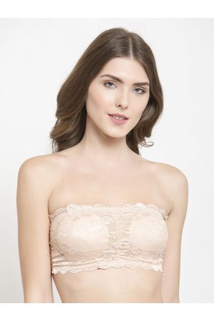 fed318e7fc8b4 PrettyCat Lace Non-Wired Lightly Padded Bandeau Bra