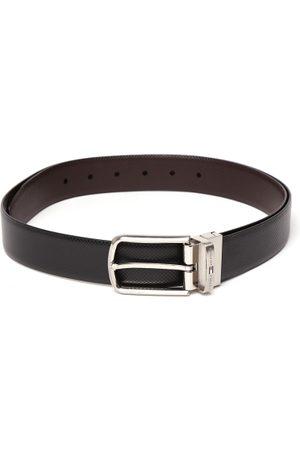 Tommy Hilfiger Men & Brown Textured Reversible Belt
