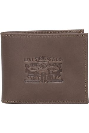 Levi's Men Coffee Brown Leather Textured Two Fold Wallet