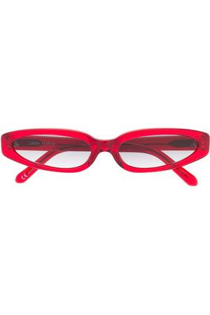 Linda Farrow Slim oval frame sunglasses