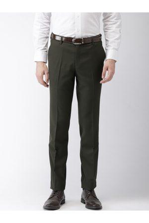 Black coffee Men Green Formal Trousers