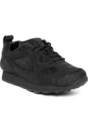 Woodland Men Black Nubuck Sneakers