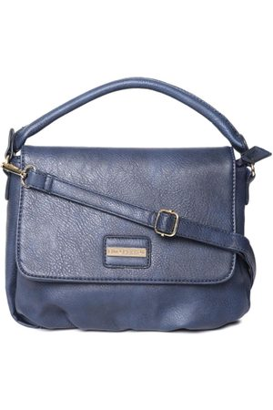 Lino Perros Navy Blue Solid Satchel
