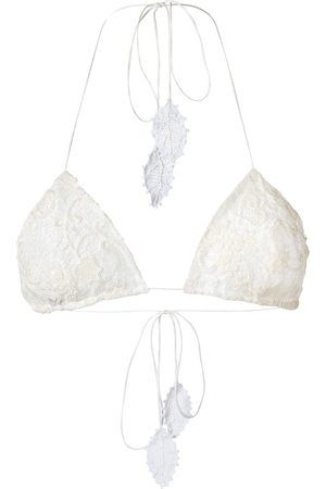 MARTHA MEDEIROS Lace Célia triangle bikini top