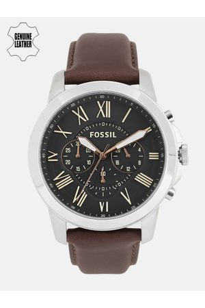 Fossil Men Black Leather Analogue Watch FS4813I_Factory_Service_Watches_2019