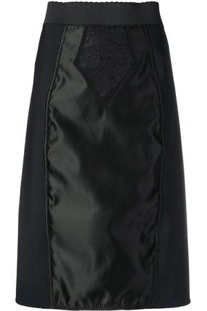 Dolce & Gabbana Women Skirts - Satin-panelled skirt