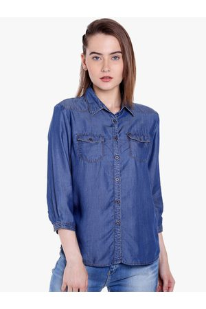 SPYKAR Women Regular Fit Solid Casual Shirt