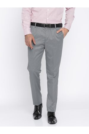 Arrow Men Tapered Fit Solid Formal Trousers