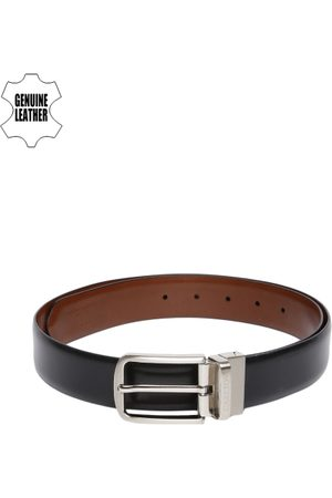 Carlton London Men Black & Brown Solid Reversible Belt