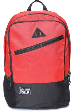 Flying Machine Men Red & Black Colourblocked Laptop Backpack