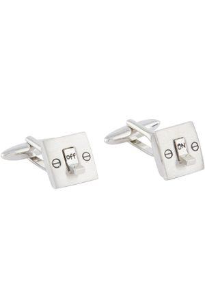 shaze Silver-Toned Square Cufflinks