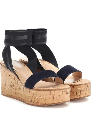 Gianvito Rossi Maybe suede-trimmed platform sandals