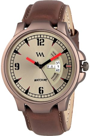 WM Men Brown Leather Analogue Watch with Wallet GW-005-DD-018p1