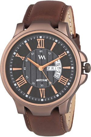 WM Men Brown Leather Analogue Watch with Wallet GW-005-DD-023p1