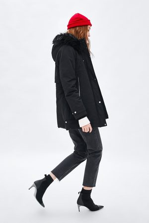 Zara QUILTED WATER-RESISTANT PARKA WITH HOOD
