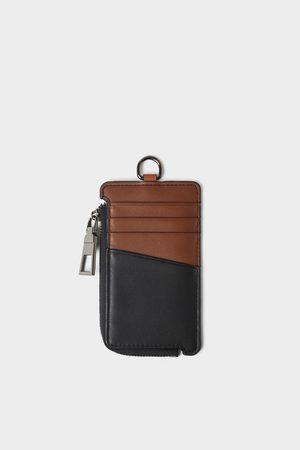 Zara Three-tone zipped card holder