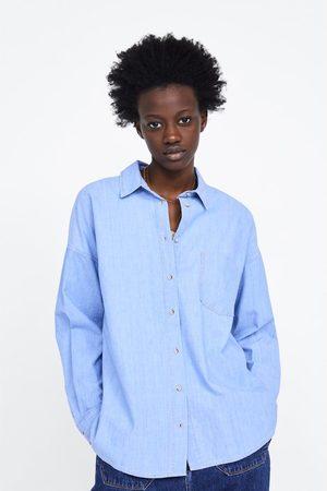 Zara Oversized denim shirt