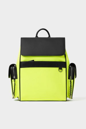 Zara Sporty neon backpack