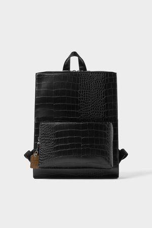 Zara Mock croc embossed backpack