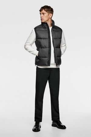 Zara Puffer gilet with contrast trims