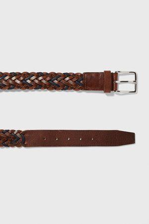 Zara Men Belts - Braided leather belt