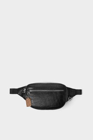 Zara Men Belts - Embossed mock croc belt bag